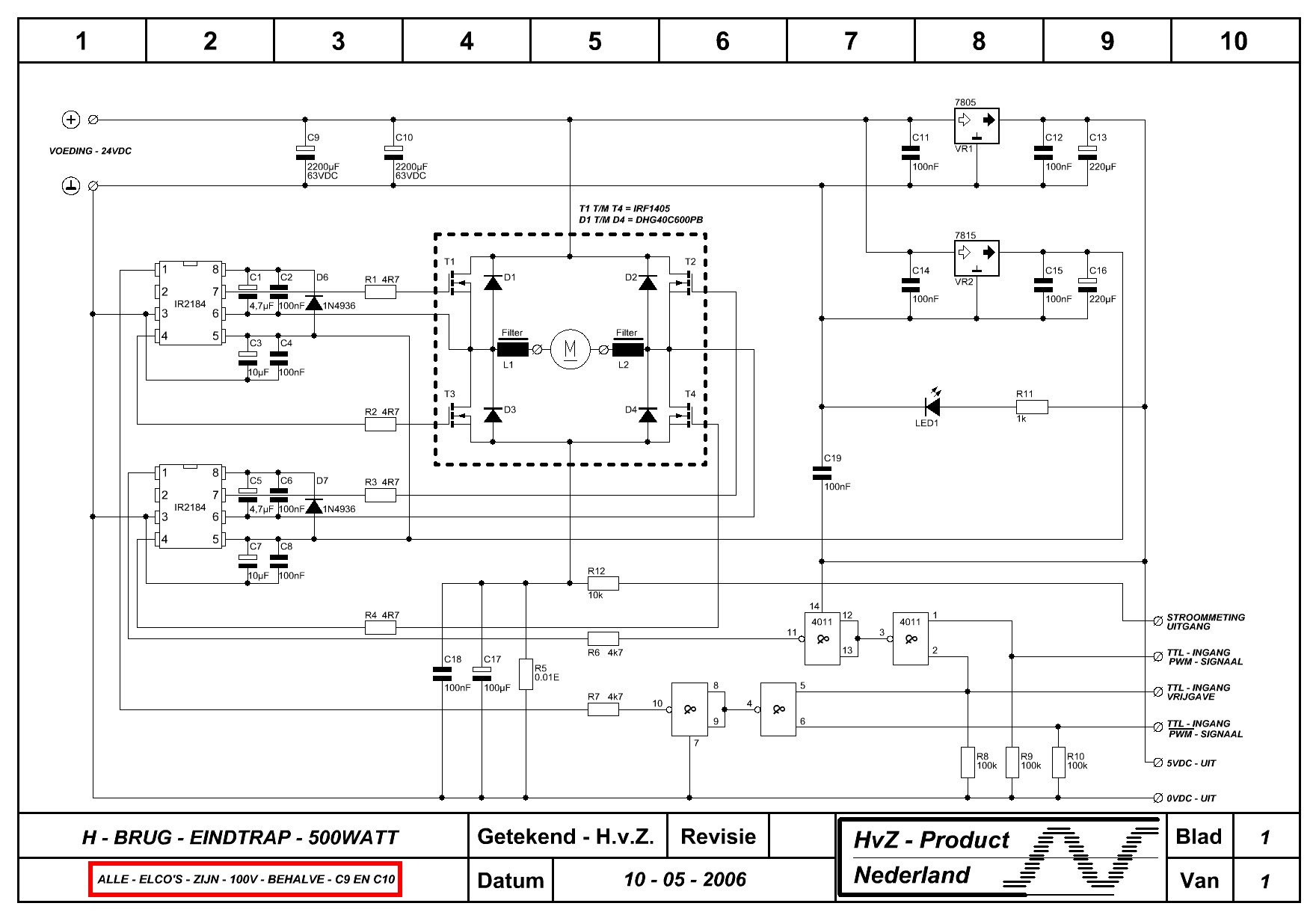 Mosfet H Bridge Motor Driver Dmv Pwm Forum Circuits Online Led Circuit Calculator Http Wwwcircuitsonlinenet Download 48 Uploadarchiefnet Files Brug20met20mosfets