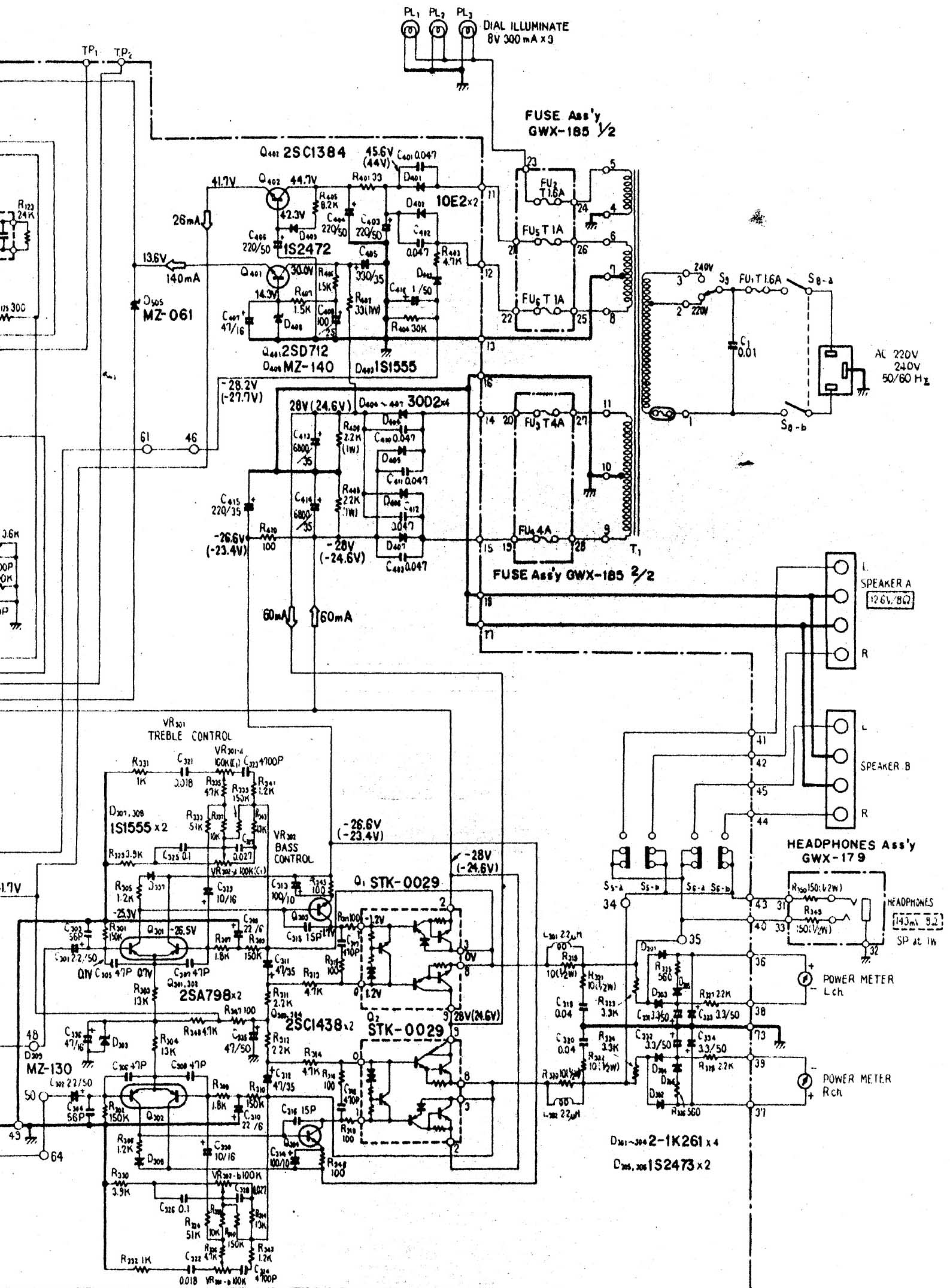 reparatie pioneer sx-590 stereo receiver  u0026 39 78     u0026 39 79