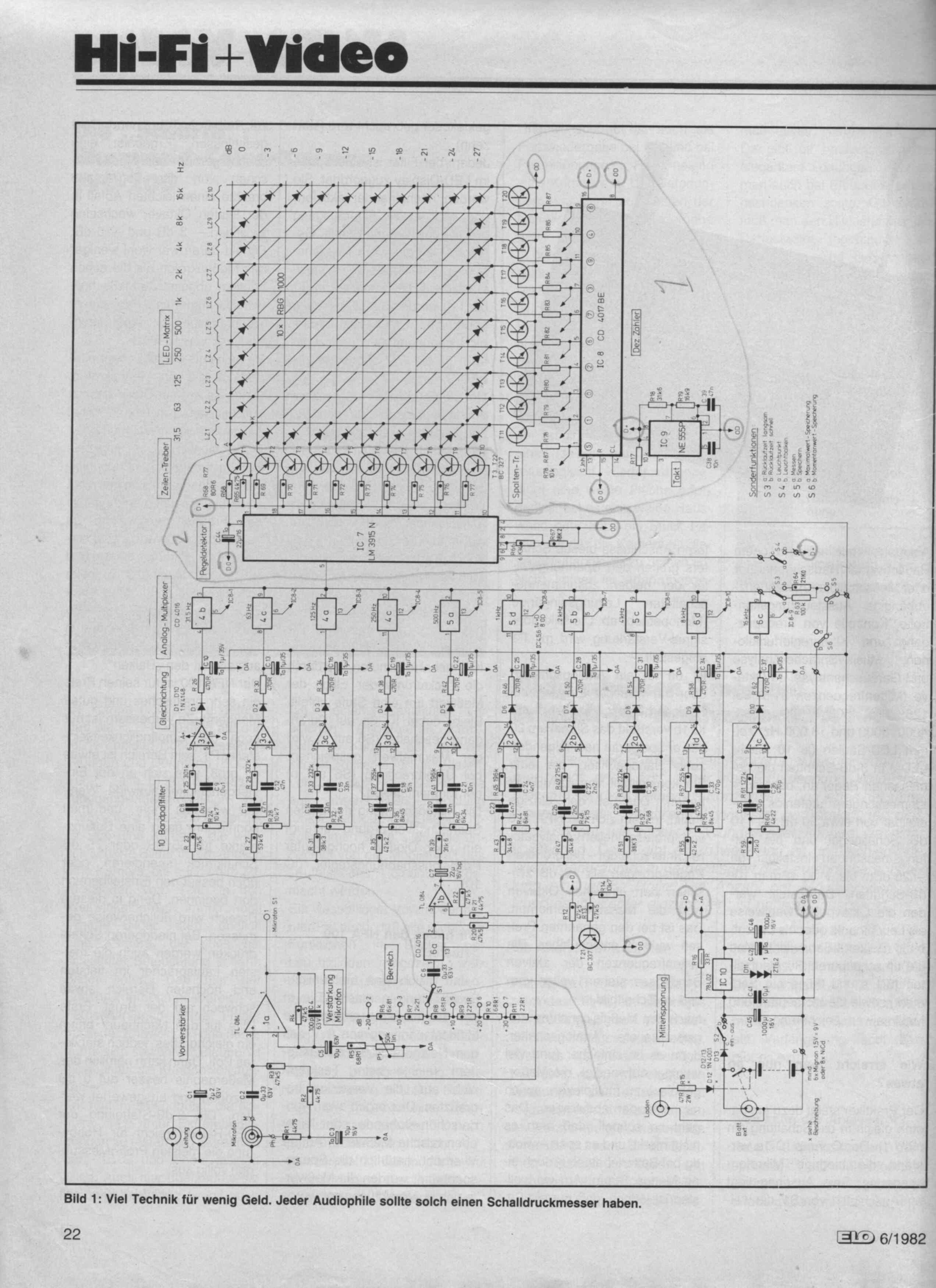 Spectrum Analyzer Doet Het Niet Forum Circuits Online Lm3915 Vu Meter Circuit Alleen Maar Met Meer Onderdelen En Weinig Info