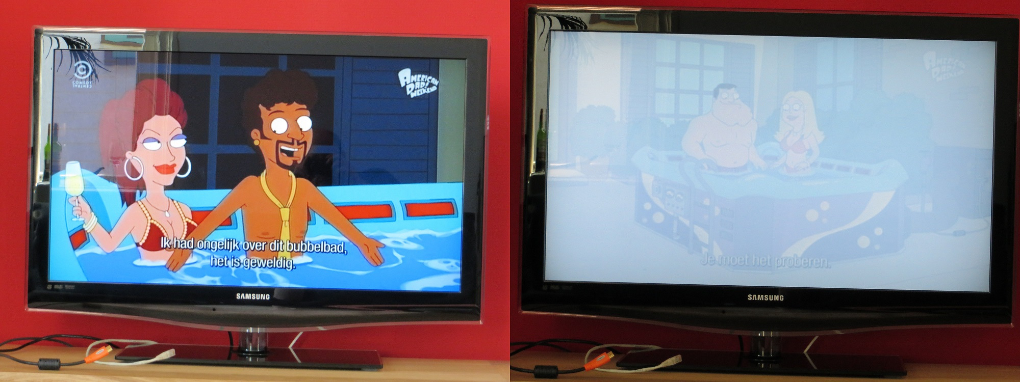 samsung tv geeft wit beeld