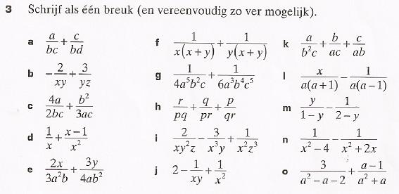 breuk zo ver mogelijk vereenvoudigen - wiskundeforum